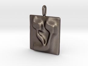 16 Ayn Pendant in Polished Bronzed Silver Steel