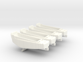 1/400 Scale LCVP Set Of 4 in White Strong & Flexible Polished
