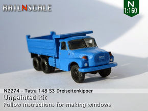 Tatra 148 S3 Dreiseitenkipper (N 1:160) in Smooth Fine Detail Plastic