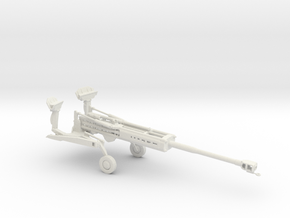 1/72 Scale M777 155mm Howitzer Towed in White Natural Versatile Plastic