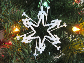 Snowflake Skeletor Ornament in White Natural Versatile Plastic