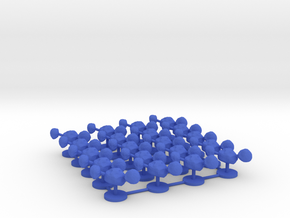 Game Piece, Asteroid Cluster, 20-set in Blue Processed Versatile Plastic