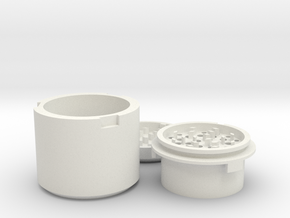 Herb 420 Grinder in White Natural Versatile Plastic