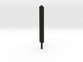Genericon Broad Sword in Black Natural Versatile Plastic