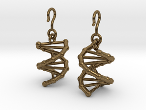 DNA Earrings in Natural Bronze (Interlocking Parts)