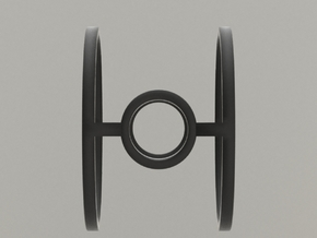 Minimalist Tie Fighter Ring in Black Hi-Def Acrylate: 8 / 56.75