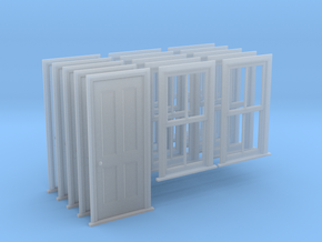 O Scale Bunkhouse Door And Windows 5 Sets in Smooth Fine Detail Plastic