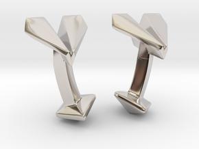 Paper Airplane Cufflinks  in Rhodium Plated Brass