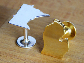 Cufflinks - Choose Any State (Texas) in 14k Gold Plated Brass
