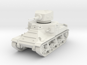 PV37A M2A1 Medium Tank (28mm) in White Natural Versatile Plastic