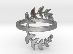 Laurel Leaves (Ring Size 4-11.5) in Natural Silver: 8 / 56.75
