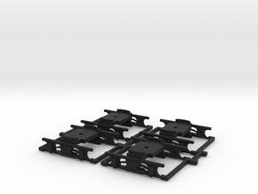 Drehgestelle Hamburg V2B (4 Stück) in Black Strong & Flexible