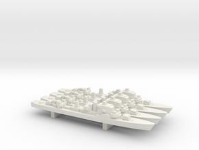 Ostergotland-class Destroyer x 4, 1/1800 in White Natural Versatile Plastic