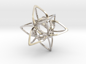 Merkaba Curvacious P in Rhodium Plated Brass
