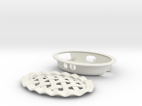 Pi Dish  in White Natural Versatile Plastic