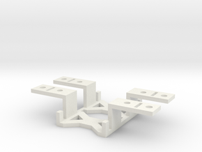 9g Servo Brackets (pair) with optional shims  in White Natural Versatile Plastic