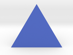 Tetrahedron Shape in Blue Strong & Flexible Polished