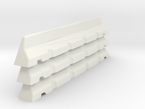 6mm Scale Concrete Road Block X 3 for War Gaming in White Natural Versatile Plastic