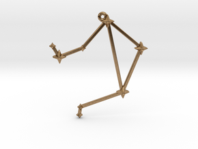 The Constellation Collection - Libra in Natural Brass