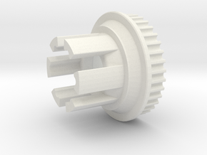 10mm 36T Pulley For Flywheels in White Natural Versatile Plastic