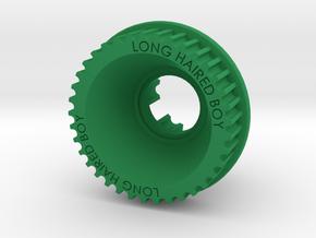 13mm 37T Pulley For Flywheels in Green Processed Versatile Plastic