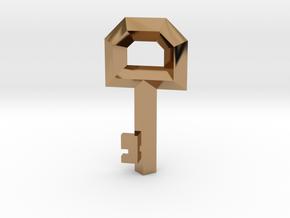 Small Key Replica  (Legend of Zelda, 1986) in Polished Brass