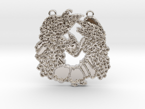 Abundance Horseshoe 1 by Gabrielle in Rhodium Plated Brass