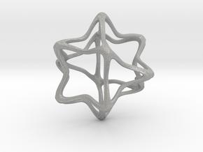 Cube Octahedron Curvy Pinch - 5cm in Aluminum