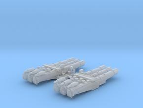 """1/600 WW2 RN 21"""" Triple Torpedo Mounts (2) in Frosted Ultra Detail"""