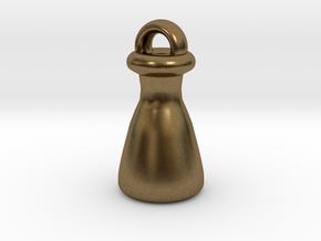Erlenmeyer Keychain in Natural Bronze