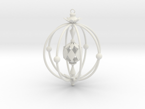A Peachy Ornament in White Natural Versatile Plastic