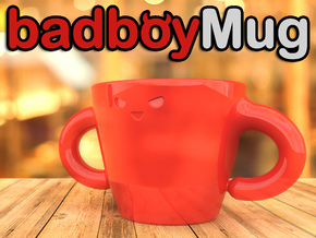 Bad Boy Mug in Gloss Red Porcelain