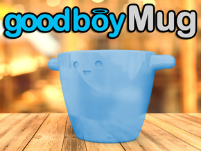 Good Boy Mug in Gloss Blue Porcelain
