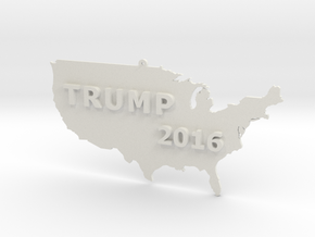 Trump 2016 USA Ornament in White Natural Versatile Plastic