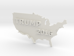Trump 2016 USA Ornament - Border Wall in White Natural Versatile Plastic