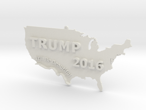 Trump 2016 USA Ornament - It'll Be Beautiful in White Strong & Flexible