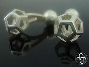 Dodecufflinks in Polished Silver