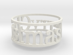 Napking Ring for Christmas in White Natural Versatile Plastic: 6 / 51.5