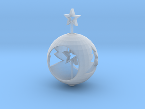 Christmas Ball With Movable Star in Smooth Fine Detail Plastic: Small