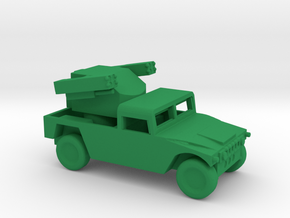 1/200 Scale Humvee Avenger SAM in Green Strong & Flexible Polished