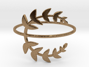 Stack-able Laurel Leaves (Size 4.75 - 11.5) in Natural Brass: 5.25 / 49.625