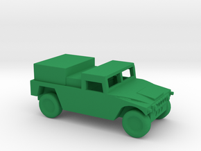1/144 Scale HUMVEE Generator in Green Strong & Flexible Polished