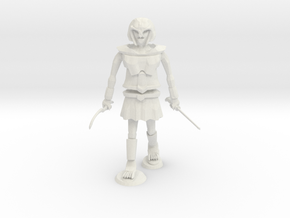 Undead Warrior in White Natural Versatile Plastic