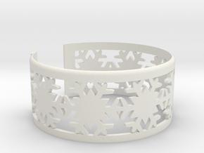 Snowflake Bracelet Medium in White Natural Versatile Plastic