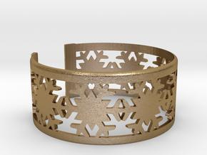 Snowflake Bracelet Medium in Polished Gold Steel