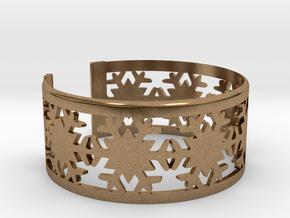 Snowflake Bracelet Large in Natural Brass
