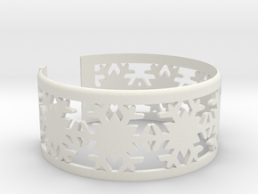 Snowflake Bracelet Small GOOD in White Natural Versatile Plastic