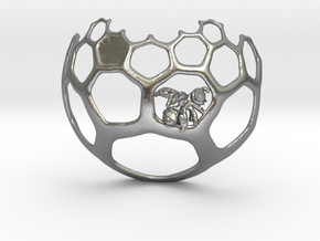 Honeycomb Pendant - Sweet Math! in Natural Silver