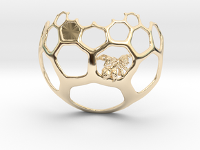 Honeycomb Pendant - Sweet Math! in 14k Gold Plated