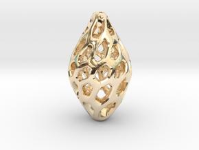 HONEYBIT Twist Pendant in 14K Yellow Gold